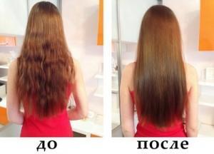 Процедура экранирование волос, фото