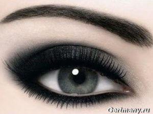 Смоки соблазнительный макияж глаз, фото