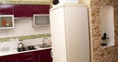 Организовать место на кухне под мойку, стол, холодильник, посуду