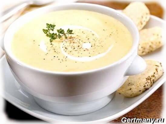 Сырный суп-пюре фото +видео