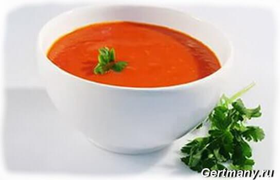 Томатный суп-пюре, фото