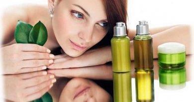 Растительные экстракты натуральной косметики для кожи, действие